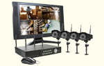 Hi-Res 4 Ch. H.264 Security System with Monitor