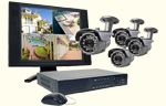 4 Channel H.264 Video Security System with Monitor