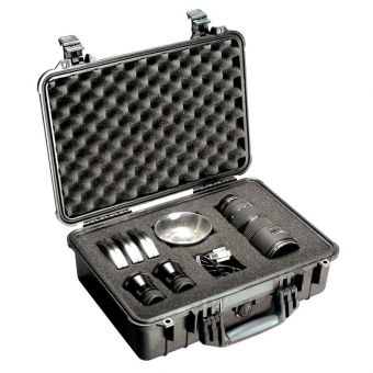 Pelican 1500 Crushproof Black Case with Foam Insert