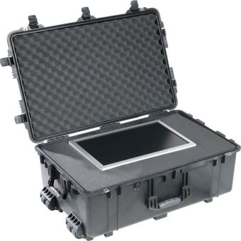 Pelican 1560 Black Case with Foam Insert and Wheels