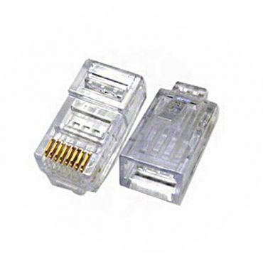 100 Pack Connectors - Plastic, RJ-45 Male