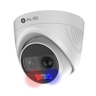 Alibi Witness 2MP Starlight 65' White Light HD-TVI/AHD/CVI/CVBS Turret Camera with Siren and Strobe Lights