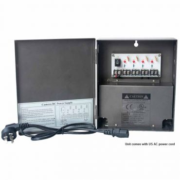 Power Supply - 5 amp 12 Vdc, 4-Channel, Leads