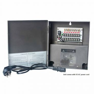 Power Supply - 10 amp 12 Vdc, 9-Channel, Leads