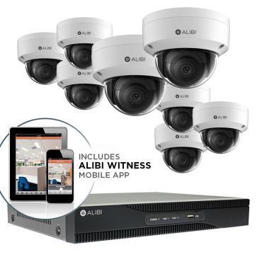 Alibi Witness 4K 8 MP 8-Camera 120' IR IP Outdoor Security System, with 16-Channel NVR and 2TB HDD