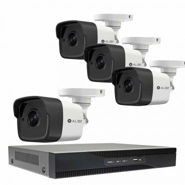 Alibi Witness 4-Camera 5.0 Megapixel 65' IR HD-TVI Hybrid+ Outdoor Security Camera System with 4-Channel DVR