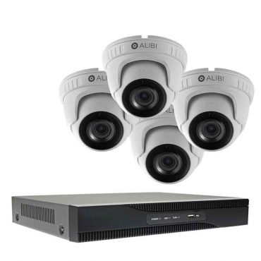 Alibi Witness 8 MP 4-Camera 120' IR HD-TVI Hybrid+ Outdoor Security System, with 4-Channel DVR and 1TB HDD
