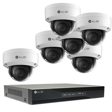 Alibi Witness 4K 8 MP 6-Camera 120' IR IP Outdoor Security System, with 8-Channel NVR and 2TB HDD